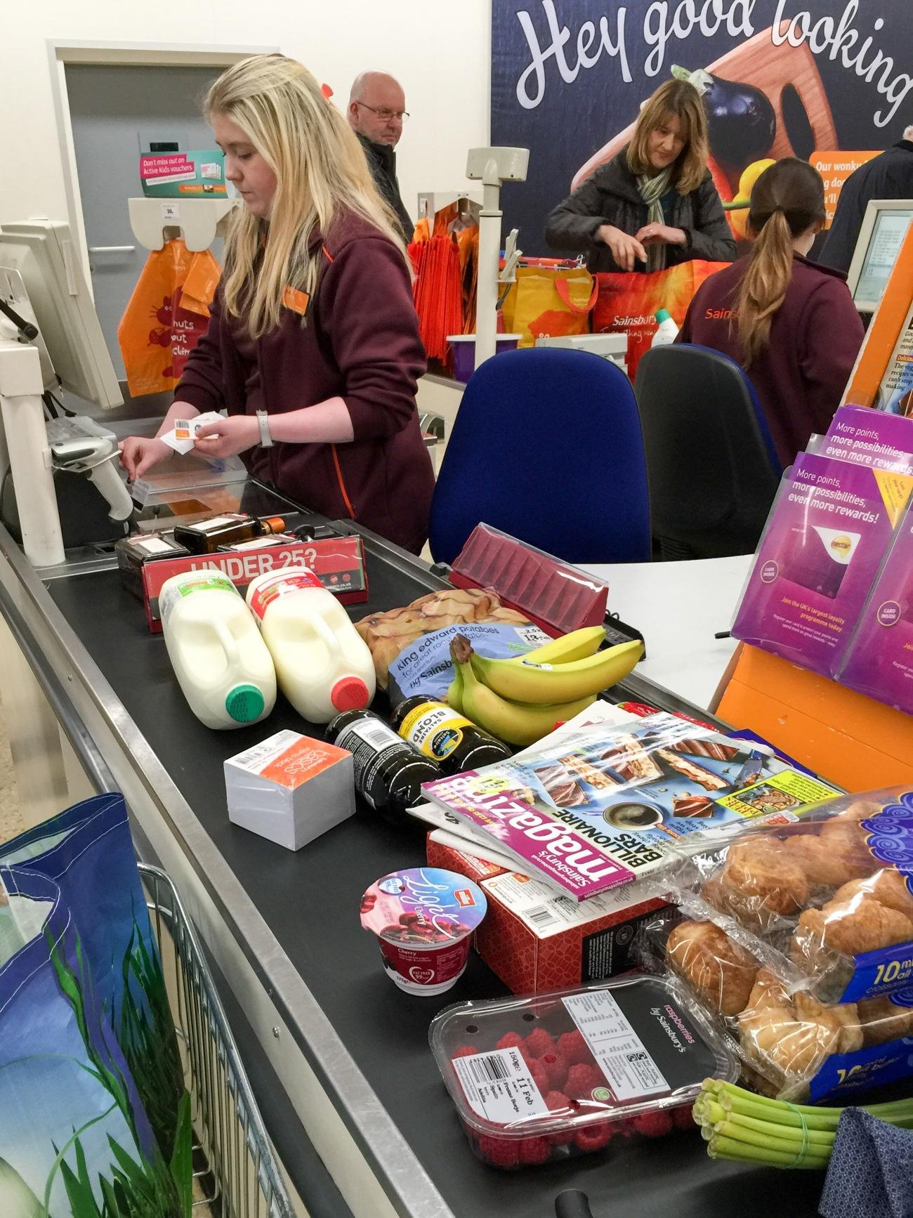 Checkout At Sainsburys