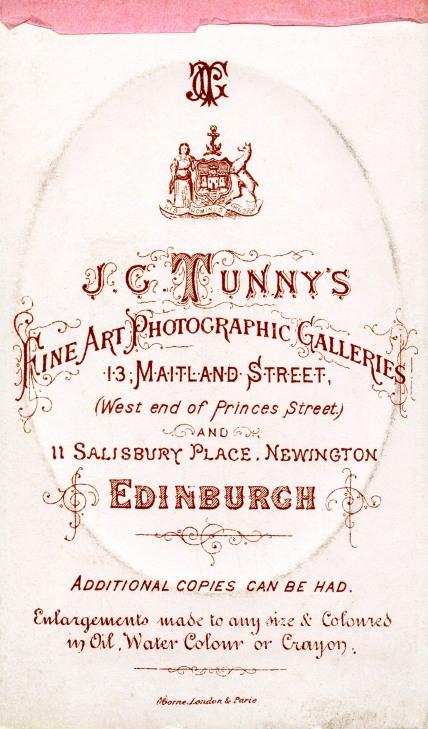 J C Tunny's Studio - 13, Maitland Street, Edinburgh
