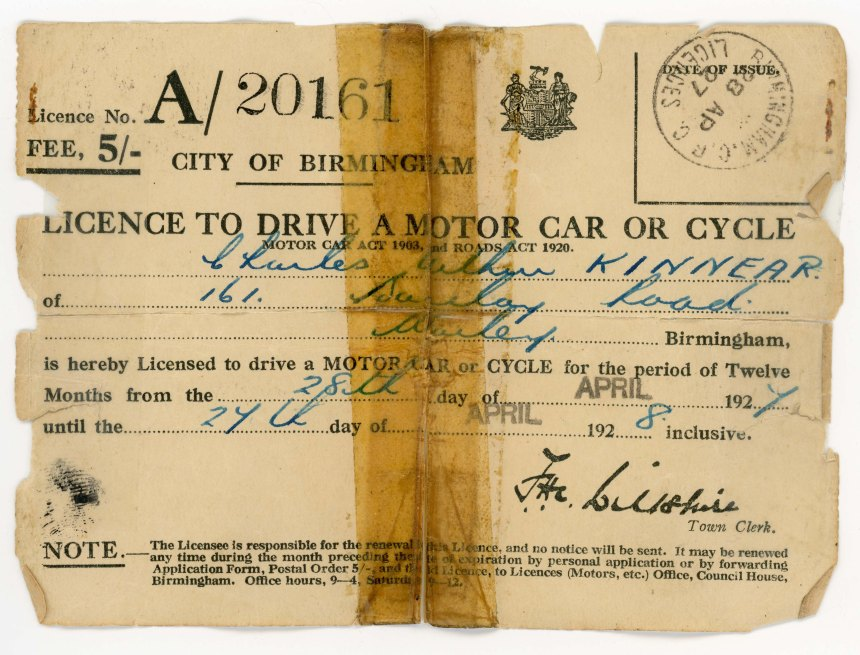Driving Licence 1927
