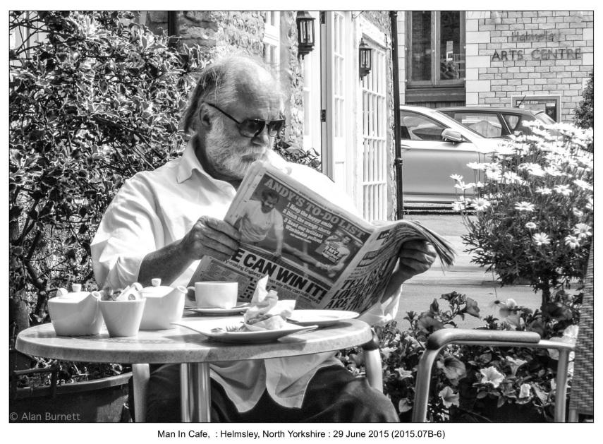 Man In Cafe,