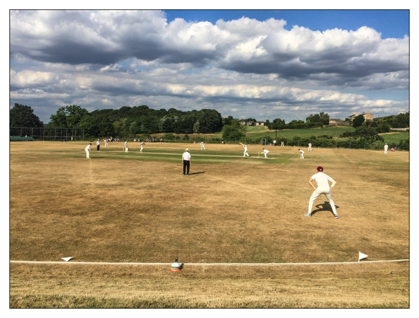 Cricket At Almondbury Wes
