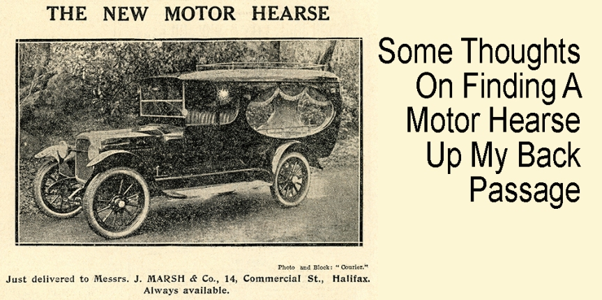 20 Images : 2. On Finding A New Motor Hearse Up My BackPassage