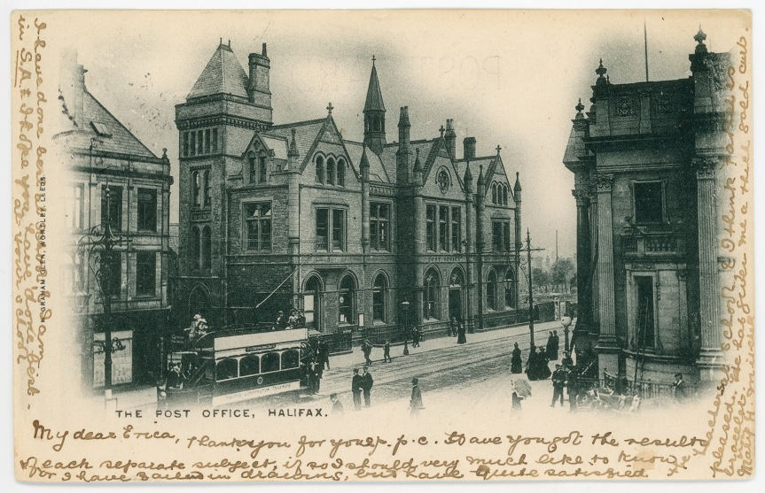 Postcards From Home : An Edwardian Tweet About Halifax PostOffice