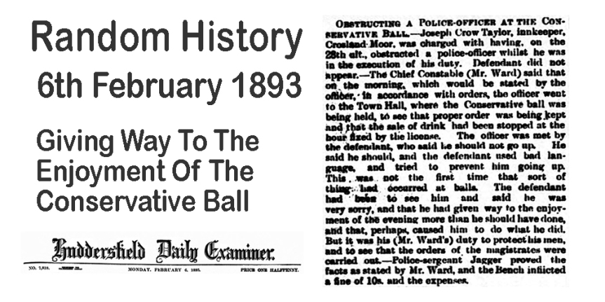 Random History : Giving Way To The Enjoyment Of The ConservativeBall