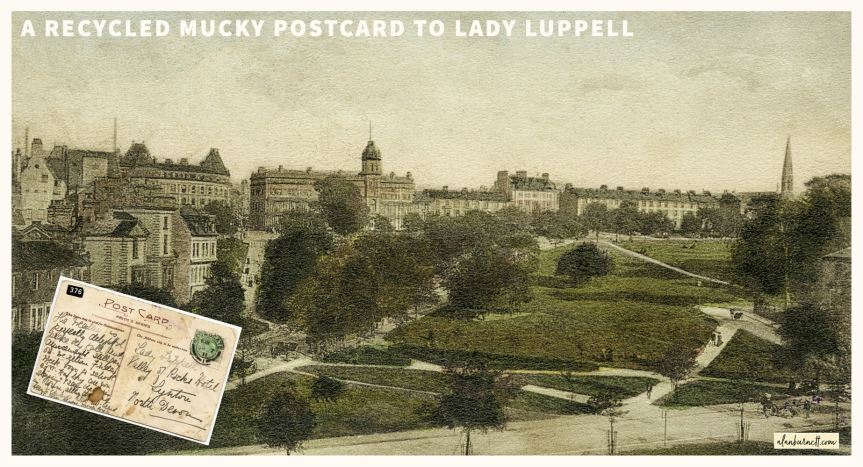 A Recycled Mucky Postcard To LadyLuppell